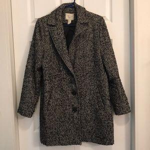 Black & White Forever 21 Coat